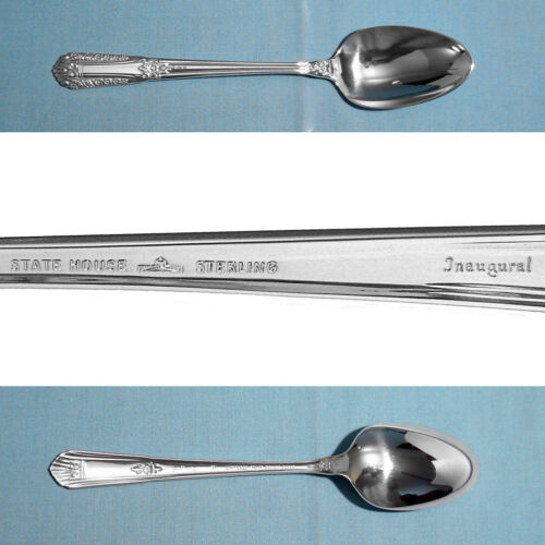STATE HOUSE STERLING TEASPOON(S) ~ INAUGURAL ~ NO MONO