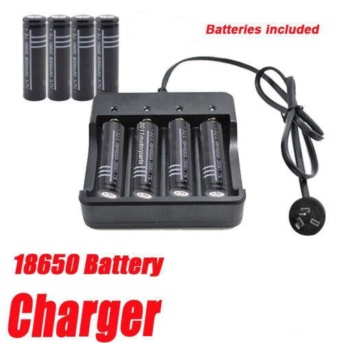 18650 3.7V Black Li-ion Rechargeable Battery or AU charger