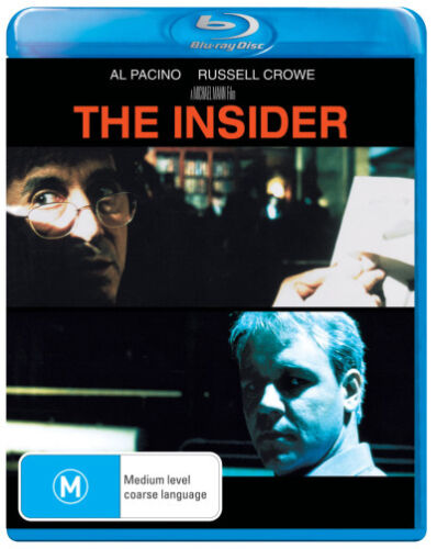 The Insider * Blu-ray Disc * NEW Russell Crowe Al Pacino