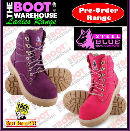 Steel Blue Southern Cross LADIES 522760.  Steel Toe Cap Safety Work Boots.  <br/> PRE-ORDER STYLE - UP TO 15 DAYS POSTAL DELAY