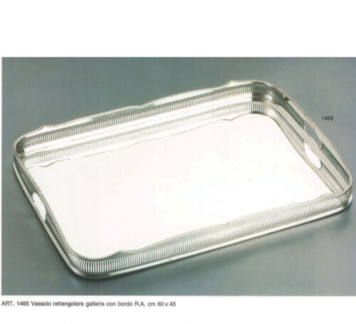 Silver Gallery Tray Oblong , Pierced Border