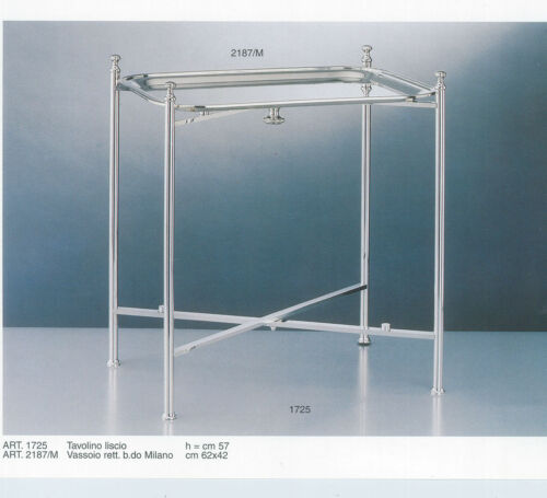 Collapsible Silver Stand, & All Metal, Plain; and Tray