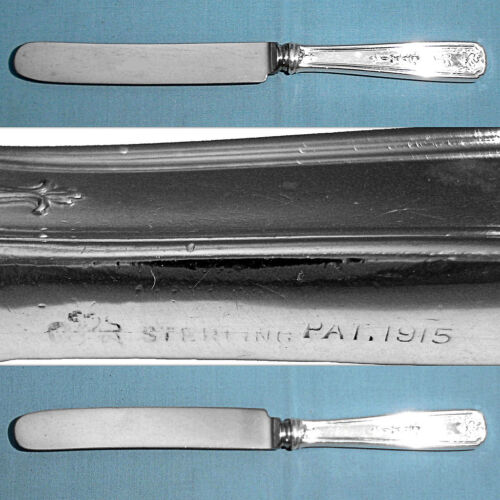 WHITING MFG STERLING OLD FRENCH HOLLOW KNIFE(S) ~ ORIANA ~ MONO H