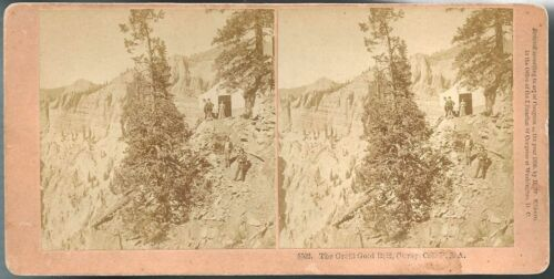 Kilburn Stereoview #5502 The Great Gold Belt, Ouray Colorado 1890