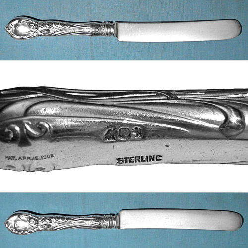 "REED & BARTON STERLING 9"" OLD FRENCH HOLLOW KNIFE(S) ~ LA PARISIENNE ~ MONO KB"