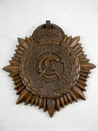 THE ARMY SERVICES CORPS 1914-1918 CARVED OAK PLAQUE