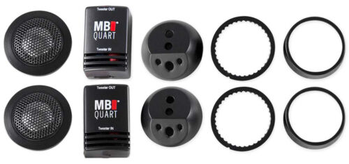 """(2) MB Quart DT1-25 1"""" Car Audio Component Tweeters+Crossovers CEA Rated - Loud!"""