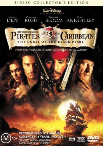Pirates Of The Caribbean - The Curse Of The Black Pearl (DVD, 2006) 2 dvd set