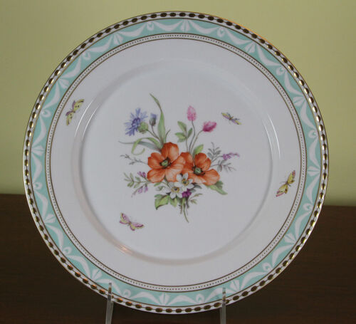 Collectors Cabinet Plate, Hand-Painted with Exquisite Antique Bouquets