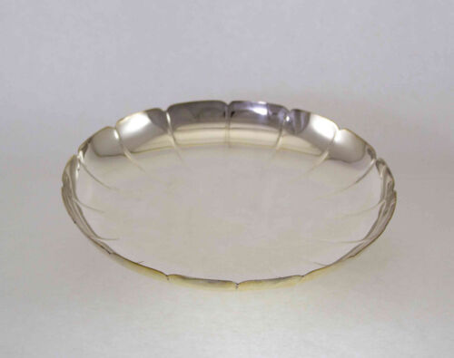 Silver Cake Dish Fluted on a Ring Foot