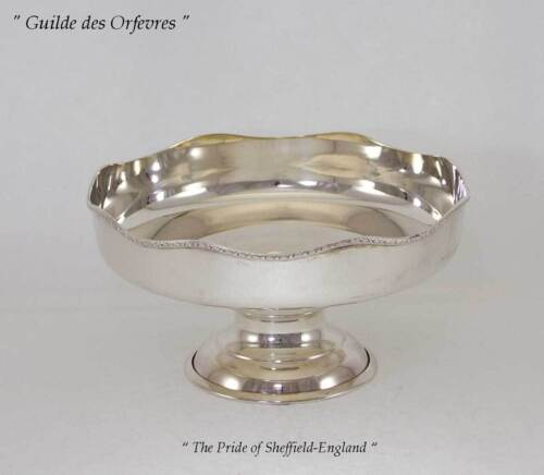 Silver Cake /Fruit Dish on Circular Foot with Applied Derwent Border