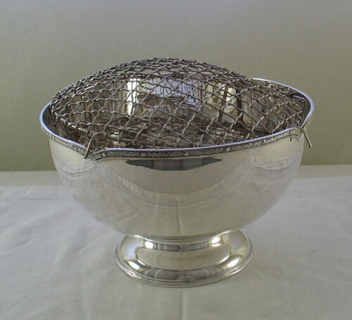 Silver Rose Bowl with Applied Celtic Border Mappin & Webb Silver Rose Bowl