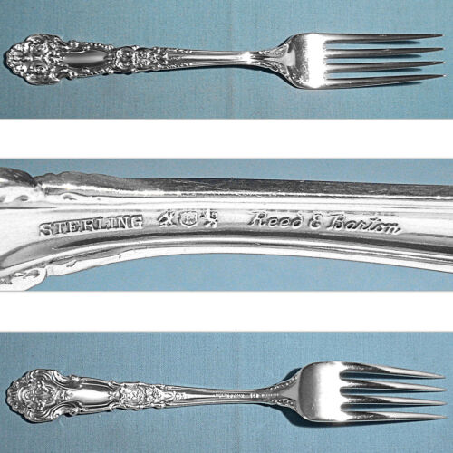 "REED & BARTON STERLING 7 7/8"" FORK(S) ~ FRENCH RENAISSANCE ~ NO MONO"