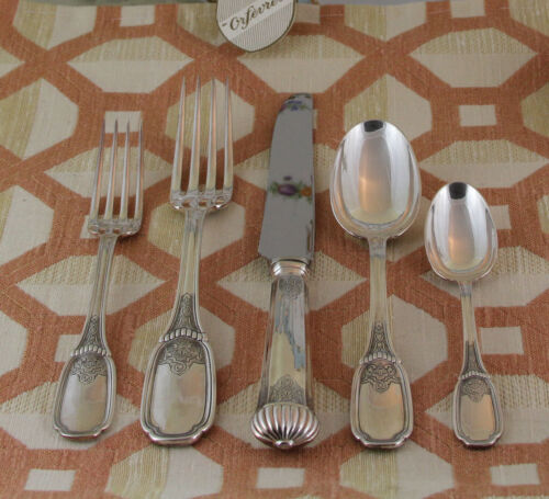 Sterling Flatware 5-pc Place-Setting, Richly Chiseled  38- Blois