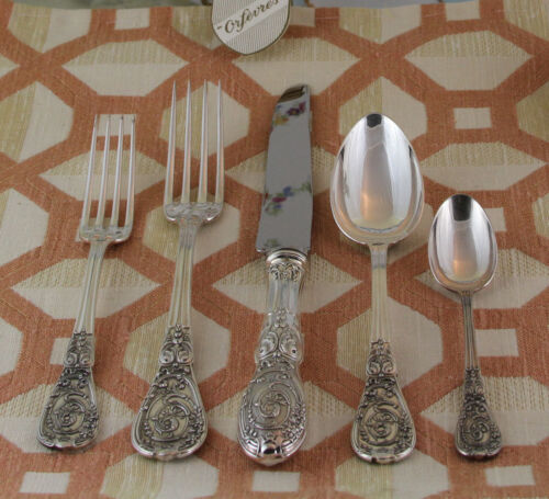 Sterling Silver Flatware 5-pc Place-Setting, 58- Montpoupon