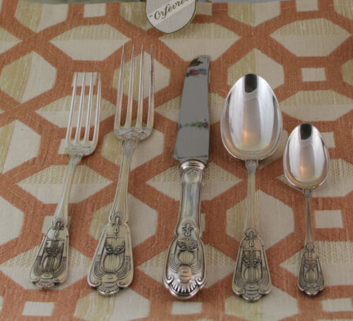 Sterling Silver Flatware 5-pc Place-Setting, 59- Valençay- Elegant