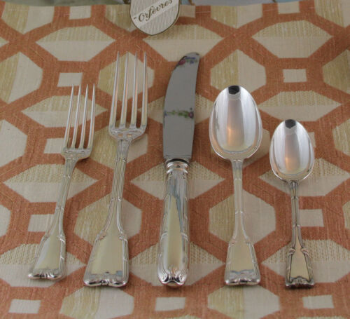 Sterling Silver Flatware 5-pc Place-Setting, 65- Châteaudun