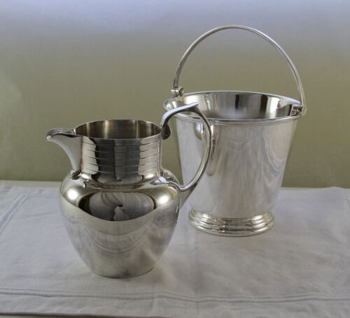 Silver Ice Pail with Applied Plain Mount & Water Jug