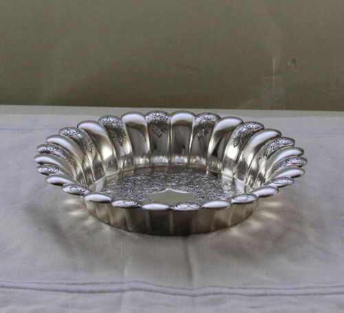 Silver Wine Coaster, Fluted & Embossed