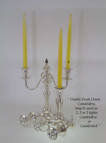 Silver Candelabra Plain 11 in., 3 Light