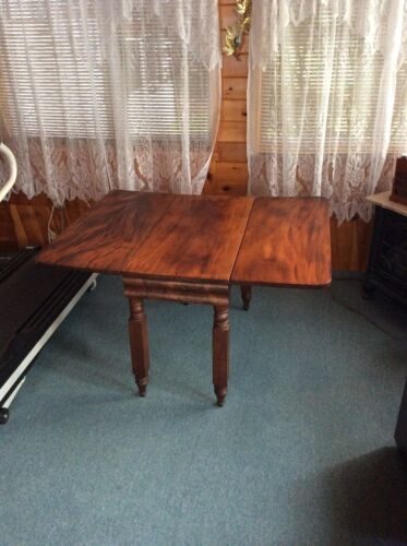 Antique empire style drop leaf table mahogany