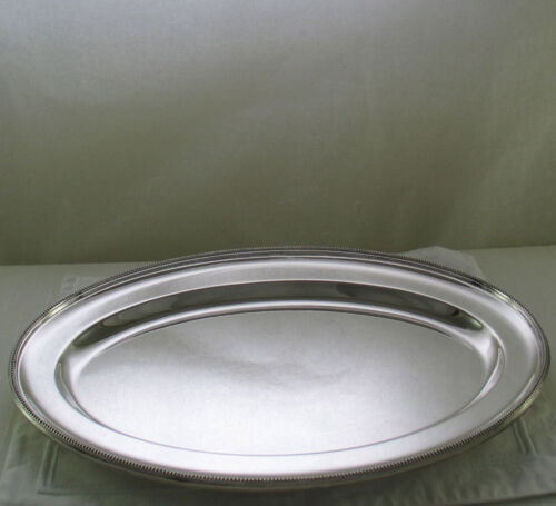 Oval Platter 12 in. with Bead Pattern, Applied Border
