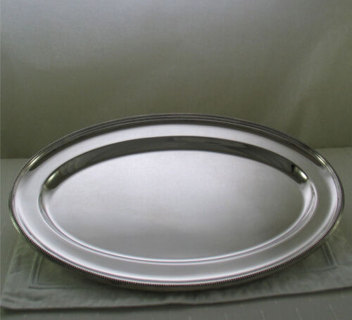 Oval Platter 20 N in. with Bead Pattern, Applied Border