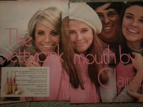 1968 Clairol Makeup Cosmetics Pretty Pink Mouth By Clairol Original Ad