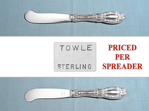 TOWLE STERLING BUTTER PADDLE(S) WITH STERLING BLADES ~ KING RICHARD ~ NO MONO