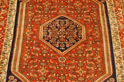 c1930s ANTIQUE HIGHLY DETAILED BIJAR RUG 3.9x5.1 CLASSIC VILLAGE WOVEN