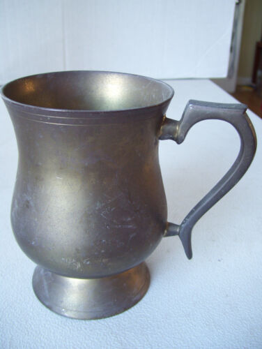 """Indian Antique Hand Crafted Vintage Brass Collectible 5"""" Tall Jug"""