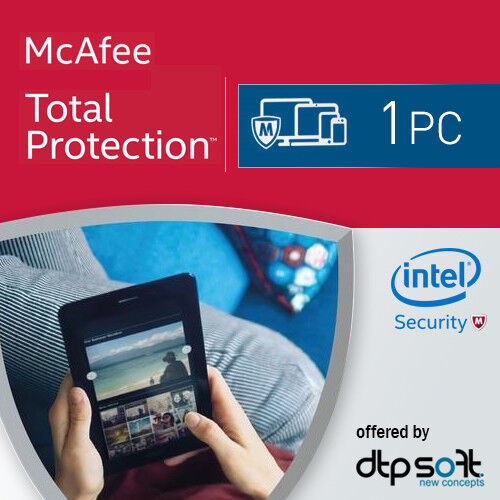 McAfee Total Protection 2021 1 PC 12 Months License Antivirus 2020 AU