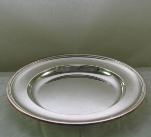 Silver Round Platter 12 in. with Plain Applied Mount