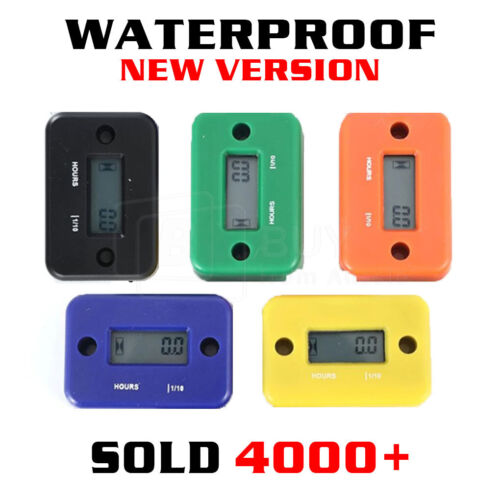 Inductive Waterproof Hour Meter for Marine ATV Motorcycle Dirt Ski Gas Engine AU <br/> OVER 3500 SOLD√ PREMIUM QUALITY√ BUY WITH CONFIDENCE√