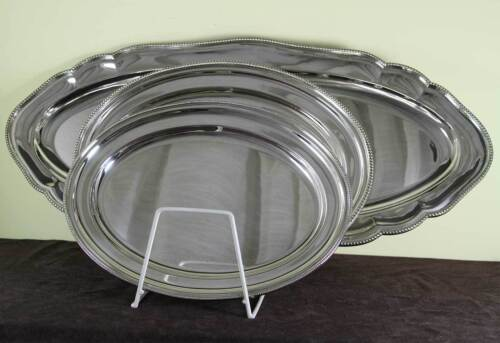 Silver Princely Suite of 9 pc Matching Dinner service with Bead Pattern