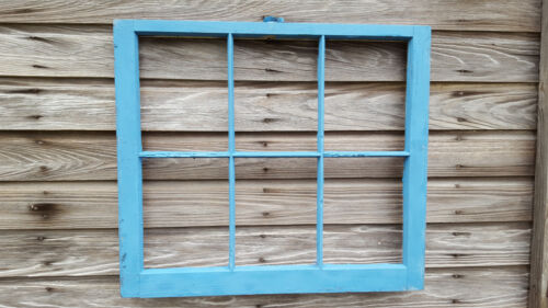 VINTAGE SASH ANTIQUE WOOD WINDOW PICTURE FRAME PINTEREST WEDDING PAINTED BLUE