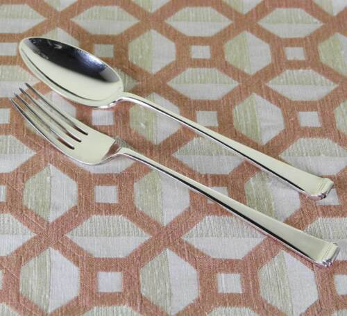 Silver Large Serving Spoon & Fork, Art Deco