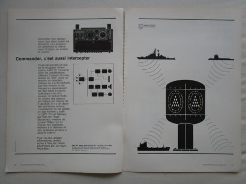1/1973 PUB PHILIPS DEFENSE SYSTEMS VAN DER HEEM ELECTRONICS LWS 20 FRENCH AD