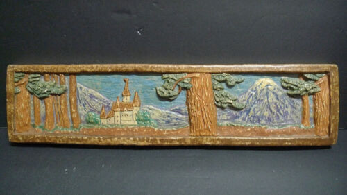 Muresque Vintage Scenic Tile with Castle California