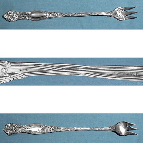 "INTERNATIONAL STERLING  8"" LONG HANDLE PICKLE / OLIVE FORK ~ FRONTENAC ~ NO MONO"