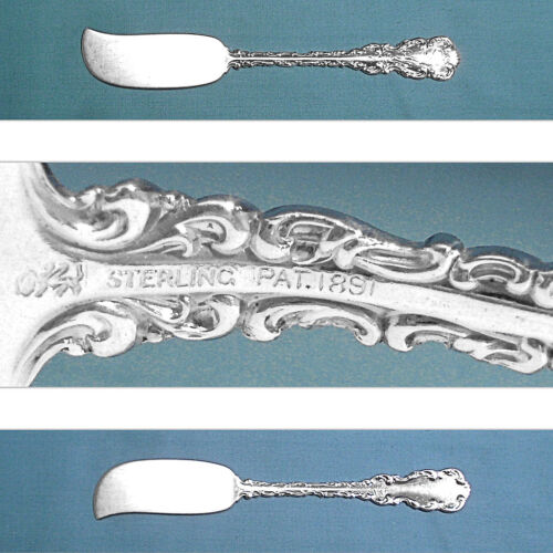 WHITING MFG STERLING FLAT HANDLE BUTTER SPREADER(S) ~ LOUIS XV ~ MONO LAB