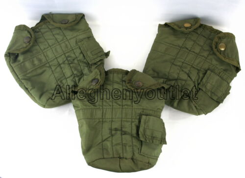 QTY 3 US Military Vietnam 1 QUART CANTEEN COVER 1QT OD CARRIER POUCH VGCPersonal, Field Gear - 36065