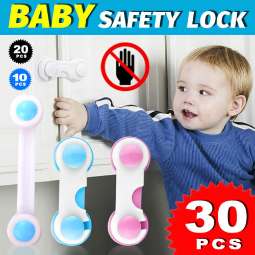 Child Kids Baby Safety Lock For Door Drawers Cupboard Cabinet Adhesive NEW <br/> HOT Sales! FREE Postage! Premium Quality! SYD Seller!