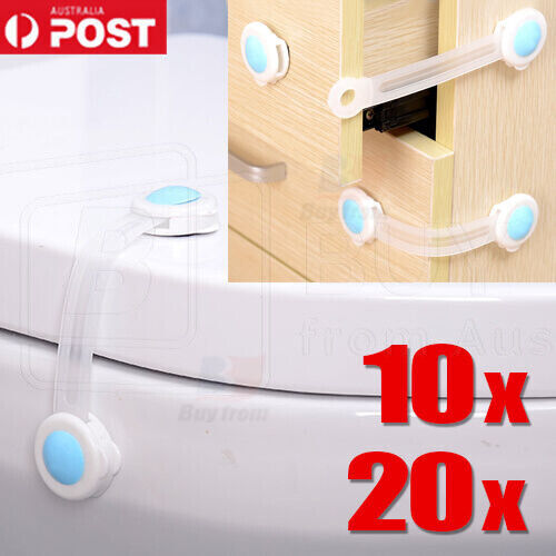 Adhesive Child Kids Baby Cute Safety Lock For Door Drawers Cupboard Cabinet <br/> OVER 1000 SOLD - PREMIUM QUALITY - BUY WITH CONFIDENCE