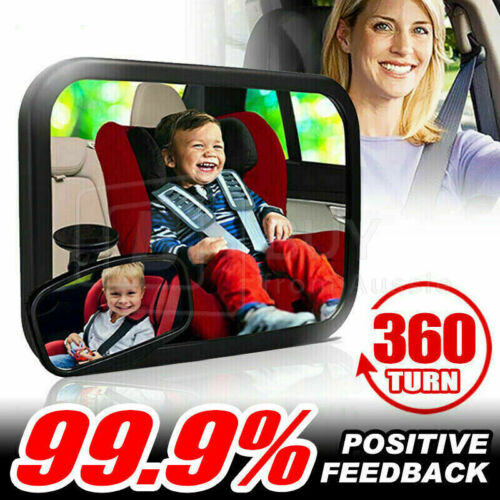 Car Baby Seat Inside Mirror View Back Safety Rear Ward + Free Bluetooth Receiver