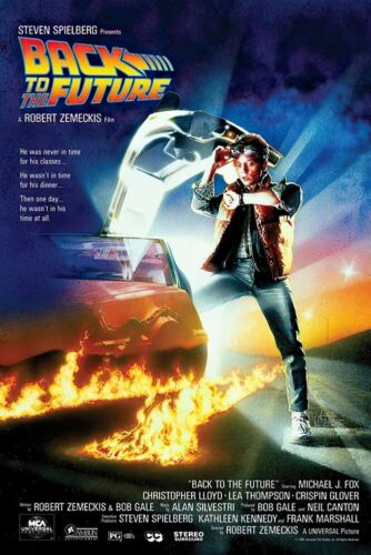 BACK TO THE FUTURE MOVIE POSTER - 24x36 - 833