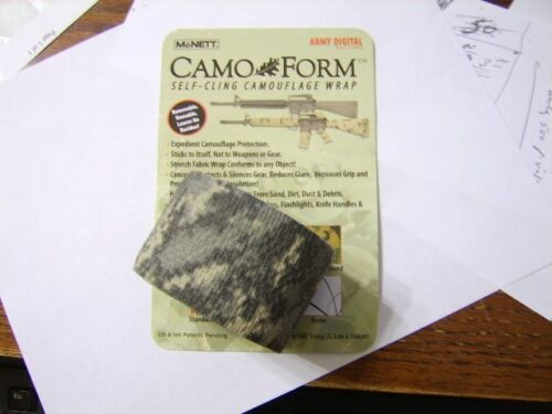 MCNETT CAMO~FORM PROTECTIVE SELF-CLING CAMOUFLAGE WRAP GUNS NIP LOT OF 10 PACKSOther Militaria - 135