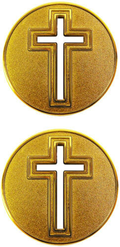 Christian Cross / Religious - Cut Out Challenge Coin 2576Challenge Coins - 74710