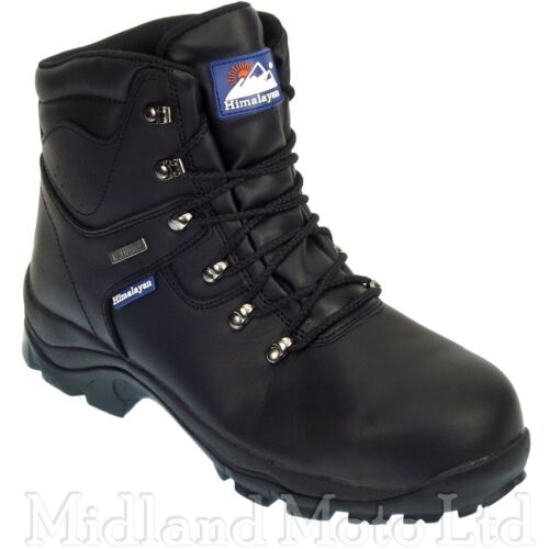 Himalayan Safety Boots Waterproof Steel Toe Cap Boots Black Leather 5200