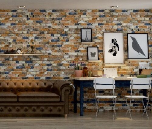 Wall Cladding -- Old World Rustic 'Bricks' (340x500mm Pieces) Sells per SQM